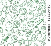 vector seamless pattern... | Shutterstock .eps vector #516214450