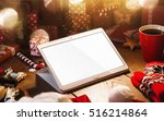 christmas decorations with... | Shutterstock . vector #516214864