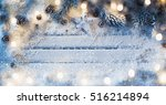 christmas decoration with star... | Shutterstock . vector #516214894