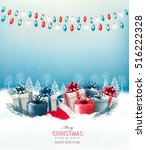 holiday christmas background... | Shutterstock .eps vector #516222328