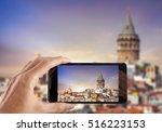 travel concept. hand making... | Shutterstock . vector #516223153