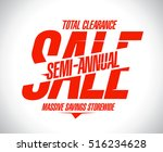 semi annual sale poster concept ... | Shutterstock .eps vector #516234628