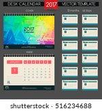 calendar 2017. printable... | Shutterstock .eps vector #516234688