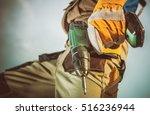 industrial drilling equipment... | Shutterstock . vector #516236944