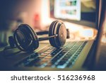 digital music creation theme... | Shutterstock . vector #516236968