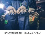car mechanic ready for work.... | Shutterstock . vector #516237760