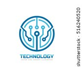 technology   vector logo... | Shutterstock .eps vector #516240520