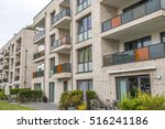 facade of a modern apartment... | Shutterstock . vector #516241186