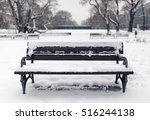 Benches In The Park In The Sno...