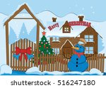 merry christmas and happy new... | Shutterstock .eps vector #516247180