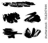 vector set of grunge brush... | Shutterstock .eps vector #516247444