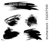 vector set of grunge brush... | Shutterstock .eps vector #516247540
