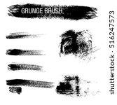 vector set of grunge brush... | Shutterstock .eps vector #516247573