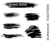 vector set of grunge brush... | Shutterstock .eps vector #516247600