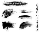 vector set of grunge brush... | Shutterstock .eps vector #516247633