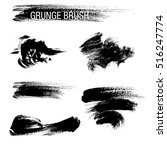 vector set of grunge brush... | Shutterstock .eps vector #516247774