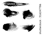 vector set of grunge brush... | Shutterstock .eps vector #516247786