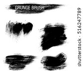 vector set of grunge brush... | Shutterstock .eps vector #516247789