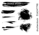 vector set of grunge brush... | Shutterstock .eps vector #516247798