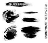 vector set of grunge brush... | Shutterstock .eps vector #516247810