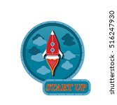 start up space rocket.... | Shutterstock .eps vector #516247930