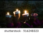 three from four advent candles...   Shutterstock . vector #516248323