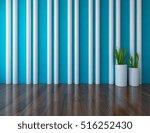 blue empty interior with vases. ... | Shutterstock . vector #516252430