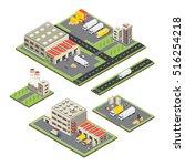 set of isometric warehouse... | Shutterstock .eps vector #516254218