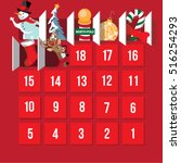 countdown to christmas advent...   Shutterstock .eps vector #516254293