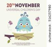 vector universal children's day ...   Shutterstock .eps vector #516257980