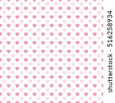 seamless heart pattern. ideal... | Shutterstock .eps vector #516258934
