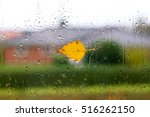 autumn weather with a yellow... | Shutterstock . vector #516262150