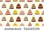 seamless pattern with different ... | Shutterstock .eps vector #516265150
