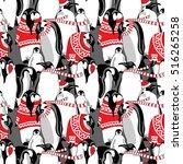 christmas seamless pattern.... | Shutterstock .eps vector #516265258
