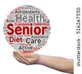 concept conceptual old senior... | Shutterstock . vector #516267550