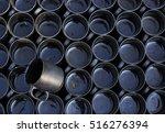 tilted black ceramic mug... | Shutterstock . vector #516276394