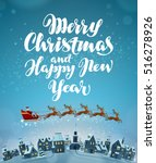 merry christmas and happy new... | Shutterstock .eps vector #516278926