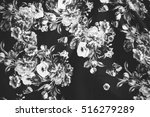 textile with colorful flowers.... | Shutterstock . vector #516279289