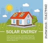 solar energy panels house...   Shutterstock .eps vector #516279460