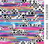tribal print mix   seamless... | Shutterstock . vector #516282088