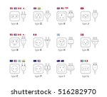 electric outlet illustration on ... | Shutterstock .eps vector #516282970