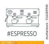 modern thin line icon of coffee ... | Shutterstock .eps vector #516285940