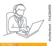 customer service. outline...   Shutterstock .eps vector #516286000