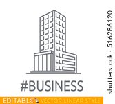 hashtag business building of... | Shutterstock .eps vector #516286120