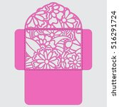 lasercut vector wedding... | Shutterstock .eps vector #516291724
