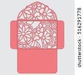 lasercut vector wedding... | Shutterstock .eps vector #516291778
