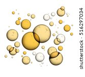 oil bubbles isolated on white... | Shutterstock .eps vector #516297034
