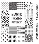 set of seamless patterns in... | Shutterstock .eps vector #516298000