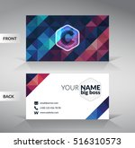 colorful stylish business card... | Shutterstock .eps vector #516310573