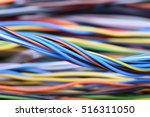 closeup of cable and wire in... | Shutterstock . vector #516311050